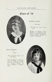 Page 8, 1916 Edition, RJ Reynolds High School - Black and Gold Yearbook (Winston Salem, NC) online yearbook collection