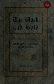 Page 1, 1923 Edition, RJ Reynolds High School - Black and Gold Yearbook (Winston Salem, NC) online yearbook collection