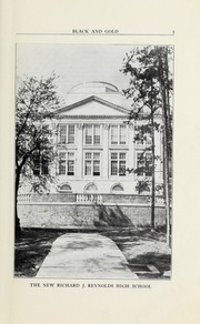 Page 7, 1923 Edition, RJ Reynolds High School - Black and Gold Yearbook (Winston Salem, NC) online yearbook collection