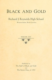 Page 5, 1927 Edition, RJ Reynolds High School - Black and Gold Yearbook (Winston Salem, NC) online yearbook collection