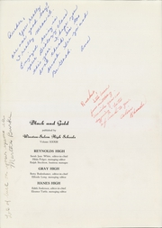 Page 6, 1944 Edition, RJ Reynolds High School - Black and Gold Yearbook (Winston Salem, NC) online yearbook collection