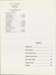 Page 8, 1954 Edition, RJ Reynolds High School - Black and Gold Yearbook (Winston Salem, NC) online yearbook collection