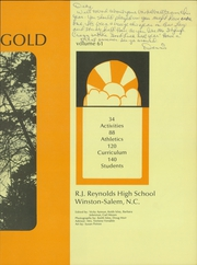 Page 7, 1972 Edition, RJ Reynolds High School - Black and Gold Yearbook (Winston Salem, NC) online yearbook collection