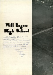 Page 10, 1946 Edition, Will Rogers High School - Lariat Yearbook (Tulsa, OK) online yearbook collection