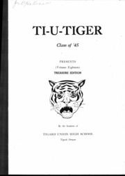 Page 2, 1945 Edition, Tigard High School - Tiger Yearbook (Tigard, OR) online yearbook collection