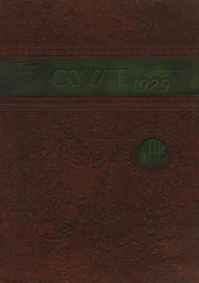 Page 1, 1929 Edition, Wichita Falls High School - Coyote Yearbook (Wichita Falls, TX) online yearbook collection
