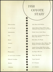 Page 6, 1958 Edition, Wichita Falls High School - Coyote Yearbook (Wichita Falls, TX) online yearbook collection