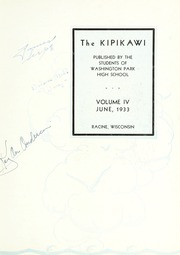 Page 7, 1933 Edition, Washington Park High School - Kipikawi Yearbook (Racine, WI) online yearbook collection