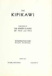 Page 5, 1937 Edition, Washington Park High School - Kipikawi Yearbook (Racine, WI) online yearbook collection