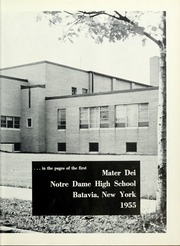 Page 7, 1955 Edition, Notre Dame High School - Mater Dei Yearbook (Batavia, NY) online yearbook collection