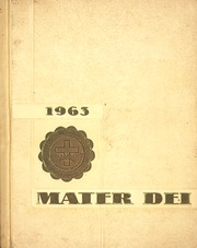1963 Edition, Notre Dame High School - Mater Dei Yearbook (Batavia, NY)