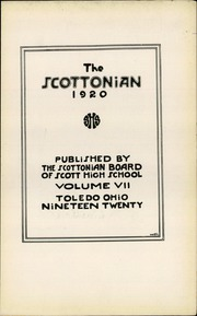 Page 7, 1920 Edition, Jesup Scott High School - Scottonian Yearbook (Toledo, OH) online yearbook collection