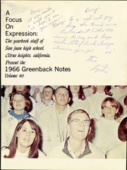 Page 7, 1966 Edition, San Juan High School - Greenback Notes Yearbook (Citrus Heights, CA) online yearbook collection