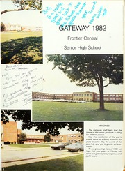 Page 5, 1982 Edition, Frontier Central High School - Gateway Yearbook (Hamburg, NY) online yearbook collection