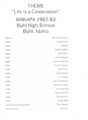 Page 5, 1983 Edition, Buhl High School - Wakapa Yearbook (Buhl, ID) online yearbook collection