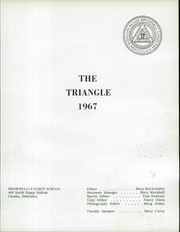 Page 5, 1967 Edition, Brownell Talbot School - Triangle Yearbook (Omaha, NE) online yearbook collection