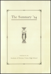 Page 7, 1924 Edition, Downey High School - Volsung Yearbook (Downey, CA) online yearbook collection