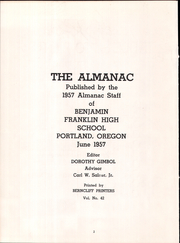 Page 6, 1957 Edition, Franklin High School - Post Yearbook (Portland, OR) online yearbook collection