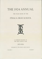 Page 5, 1924 Edition, Ithaca High School - Annual Yearbook (Ithaca, NY) online yearbook collection