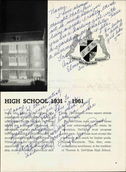 Page 13, 1961 Edition, DeVilbiss High School - Pot O Gold Yearbook (Toledo, OH) online yearbook collection