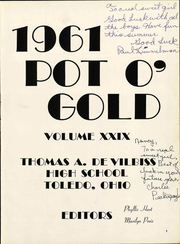 Page 5, 1961 Edition, DeVilbiss High School - Pot O Gold Yearbook (Toledo, OH) online yearbook collection