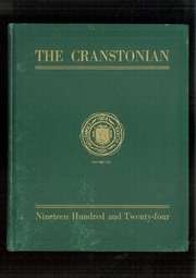 Page 1, 1924 Edition, Cranston High School - Cranstonian Yearbook (Cranston, RI) online yearbook collection
