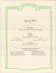 Page 14, 1924 Edition, Cranston High School - Cranstonian Yearbook (Cranston, RI) online yearbook collection