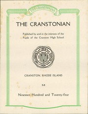 Page 5, 1924 Edition, Cranston High School - Cranstonian Yearbook (Cranston, RI) online yearbook collection