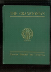 Page 1, 1926 Edition, Cranston High School - Cranstonian Yearbook (Cranston, RI) online yearbook collection