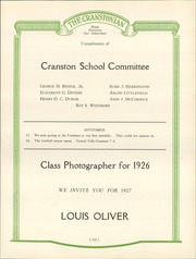 Page 127, 1926 Edition, Cranston High School - Cranstonian Yearbook (Cranston, RI) online yearbook collection