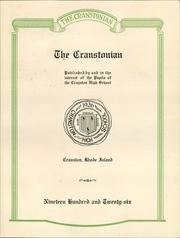 Page 7, 1926 Edition, Cranston High School - Cranstonian Yearbook (Cranston, RI) online yearbook collection