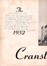 Page 6, 1952 Edition, Cranston High School - Cranstonian Yearbook (Cranston, RI) online yearbook collection