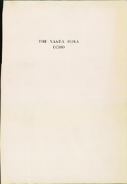 Page 5, 1931 Edition, Santa Rosa High School - Echo Yearbook (Santa Rosa, CA) online yearbook collection