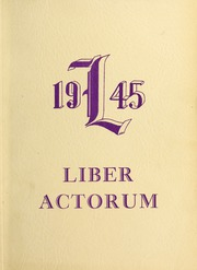 1945 Edition, Boston Latin School - Liber Actorum Yearbook (Boston, MA)