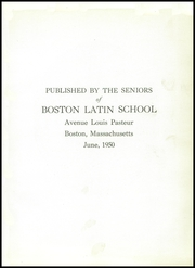 Page 5, 1950 Edition, Boston Latin School - Liber Actorum Yearbook (Boston, MA) online yearbook collection