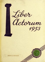 1953 Edition, Boston Latin School - Liber Actorum Yearbook (Boston, MA)