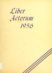 1956 Edition, Boston Latin School - Liber Actorum Yearbook (Boston, MA)