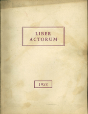 Page 1, 1958 Edition, Boston Latin School - Liber Actorum Yearbook (Boston, MA) online yearbook collection