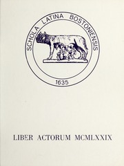1979 Edition, Boston Latin School - Liber Actorum Yearbook (Boston, MA)