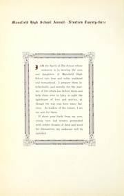 Page 14, 1923 Edition, Mansfield High School - Manhigan Yearbook (Mansfield, OH) online yearbook collection