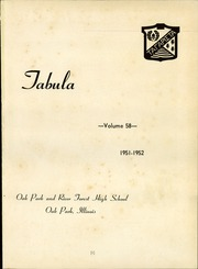Page 5, 1952 Edition, Oak Park and River Forest High School - Tabula Yearbook (Oak Park, IL) online yearbook collection