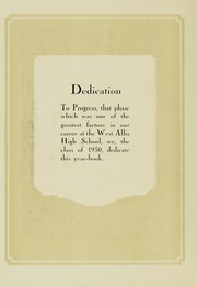 Page 10, 1930 Edition, West Allis High School - Wamago Yearbook (West Allis, WI) online yearbook collection