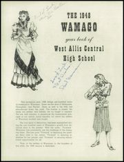 Page 6, 1948 Edition, West Allis High School - Wamago Yearbook (West Allis, WI) online yearbook collection