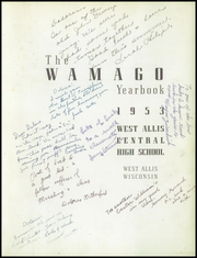 Page 5, 1953 Edition, West Allis High School - Wamago Yearbook (West Allis, WI) online yearbook collection