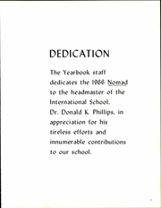 Page 11, 1966 Edition, International School of Brussels - Focus Yearbook (Brussels, Belgium) online yearbook collection