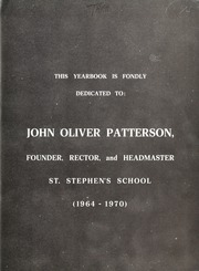 Page 3, 1970 Edition, St Stephens School - Yearbook (Rome, Italy) online yearbook collection