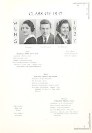 Page 11, 1937 Edition, West Liberty High School - Liber Tee An Yearbook (West Liberty, WV) online yearbook collection