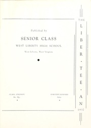 Page 5, 1937 Edition, West Liberty High School - Liber Tee An Yearbook (West Liberty, WV) online yearbook collection