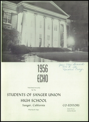 Page 5, 1956 Edition, Sanger High School - Echo Yearbook (Sanger, CA) online yearbook collection