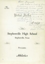 Page 5, 1952 Edition, Stephenville High School - Yellow Jacket Yearbook (Stephenville, TX) online yearbook collection